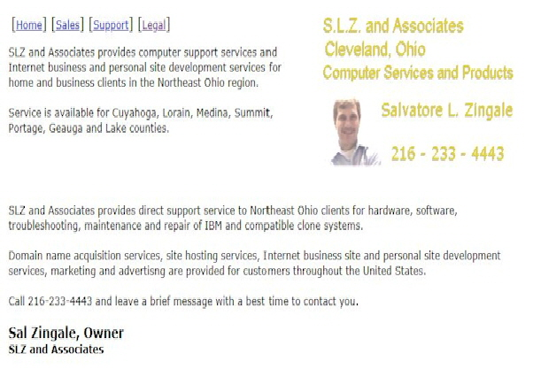 SLZ and Associates Com Site
